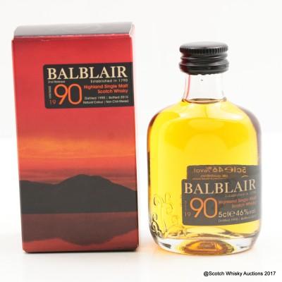Balblair 1990 2nd Release Mini 5cl