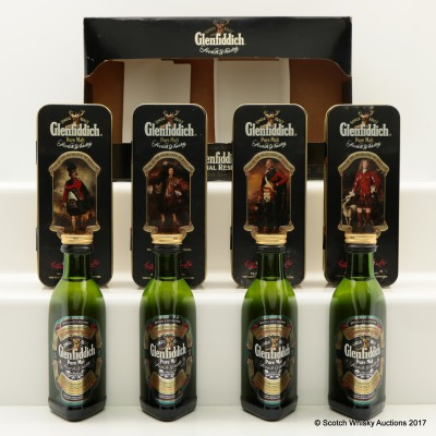 Glenfiddich Clans of the Highlands Mini Set 4 x 5cl