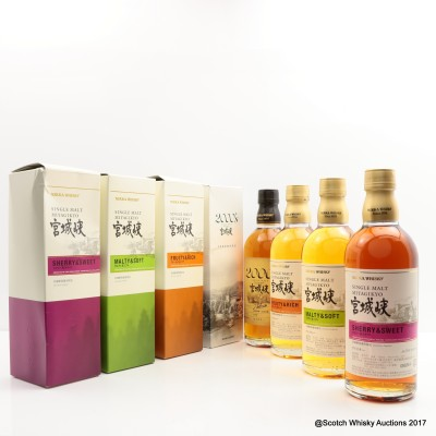 Miyagikyo Distillery Exclusive Set 4 x 50cl