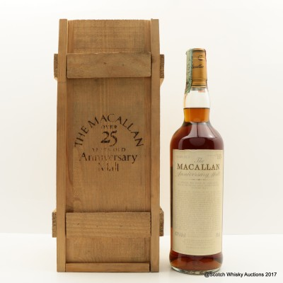 Macallan Over 25 Year Old Anniversary Malt