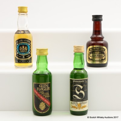 Assorted Minis 4 x 5cl Including Springbank 12 Year Old Old Style 5cl