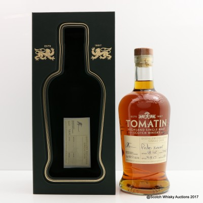 Tomatin 2002 Hand Filled PX Cask #34912