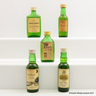 Assorted Minis 5 x 5cl Including Pinwinnie Royale