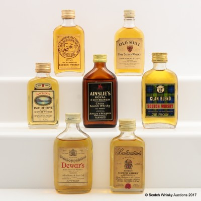 Assorted Minis 7 x 5cl Including Dewar's White Label 5cl