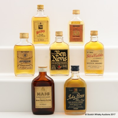Assorted Minis 7 x 5cl Including Haig Gold Label