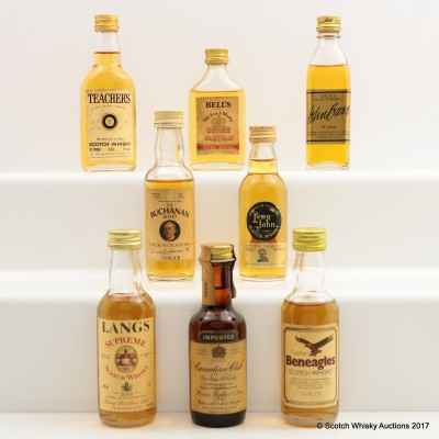 Assorted Minis 8 x 5cl Including Canadian Club 5cl