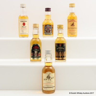 Assorted Minis 6 x 5cl Including Rob Roy 5cl