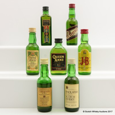 Assorted Minis 7 x 5cl Including Queen Anne 5cl