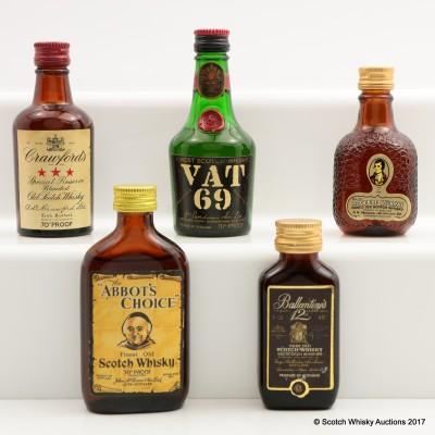 Assorted Minis 5 x 5cl Including Vat 69 5cl