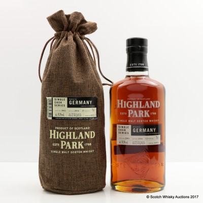 Highland Park 2002 13 Year Old For Germany Single Cask #6353