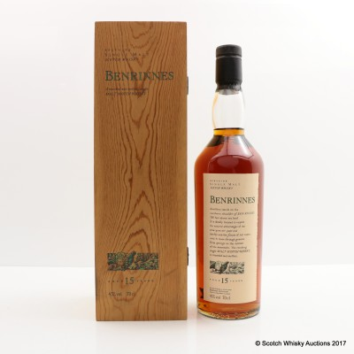 Flora & Fauna Benrinnes 15 Year Old In Wooden Box