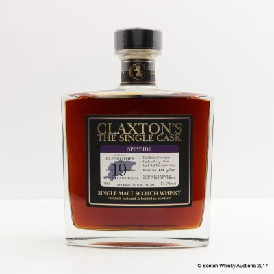 Glenrothes 1997 19 Year Old Claxton's The Single Cask