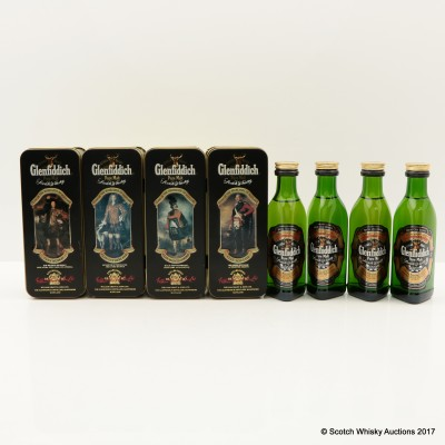 Glenfiddich Clans Of The Highlands Of Scotland Mini 4 x 5cl