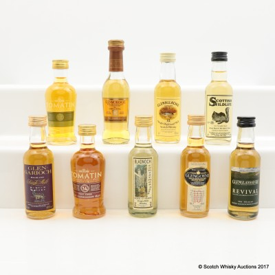 Assorted Minis 9 x 5cl Including Strathmill 10 Year Old 5cl