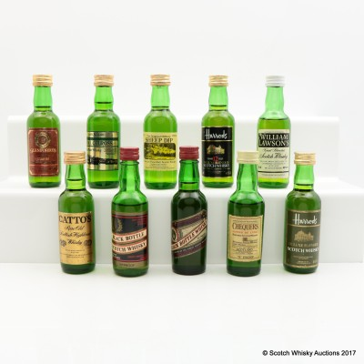 Assorted Minis 10 x 5cl Including Royal Culross 8 Year Old 5cl