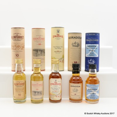 Assorted Minis 5 x 5cl Including Glenturret 10 Year Old 5cl