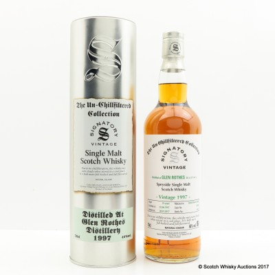 Glenrothes 1997 19 Year Old Signatory