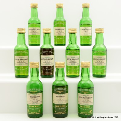 Assorted Cadenhead's Minis 10 x 5cl Including Millburn 1983 11 Year Old
