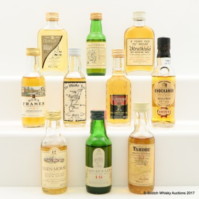 Assorted Minis 10 x 5cl Including Lagavulin 16 Year Old White Horse