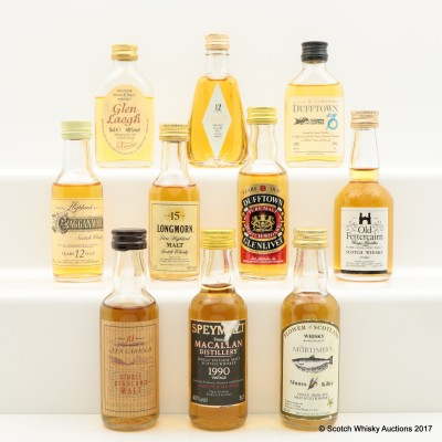 Assorted Minis 10 x 5cl Including Macallan Speymalt 1990