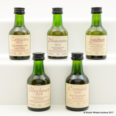 Assorted Whisky Connoisseur Minis 5 x 5cl Including Pluscarden 1974