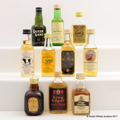 Assorted Minis x 10 Including Queen Anne 2 FL OZ