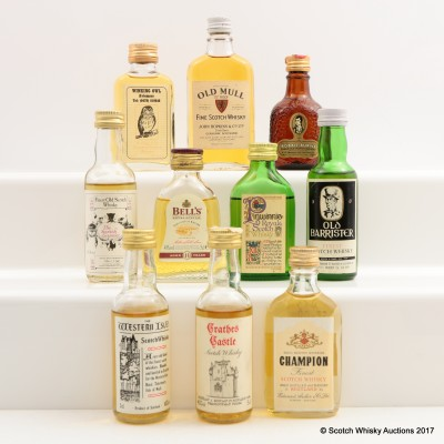 Assorted Minis 10 x 5cl Including Old Barrister