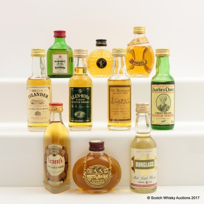 Assorted Minis 10 x 5cl Including Whyte & Mackay 21 Year Old
