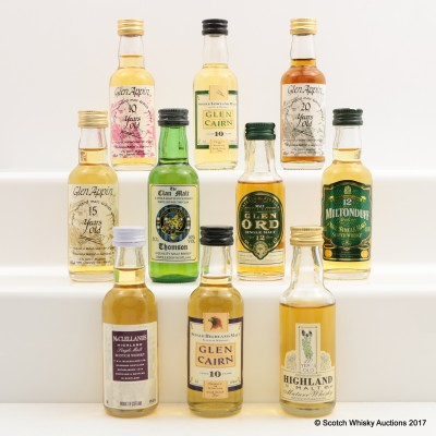 Assorted Minis 10 x 5cl Including Glen Appin 20 Year Old