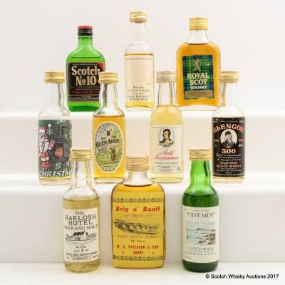 Assorted Minis 10 x 5cl Including Uist Mist