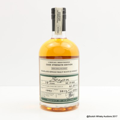 Scapa 1993 19 Year Old Chivas Brothers 50cl