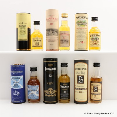 Assorted Minis 6 x 5cl Including Springbank 10 Year Old