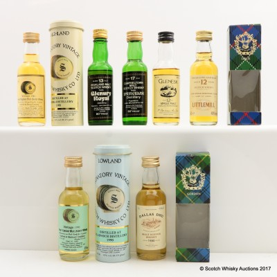 Assorted Minis 7 x 5cl Including Brora 1981 18 Year Old Signatory