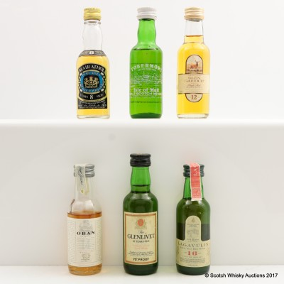 Assorted Minis 6 x 5cl Including Oban 14 Year Old