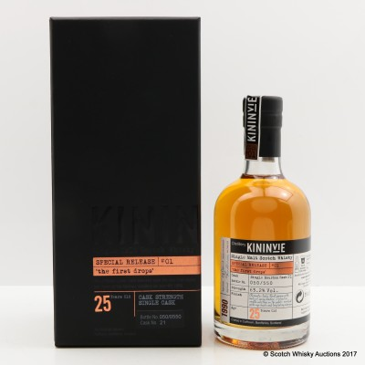 Kininvie 1990 25 Year Old Single Cask #21 'The First Drops' 35cl