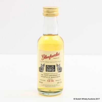 Glenfarclas Commemorative Bottling For The 700th Anniversary Of The Battle Of Bannockburn Mini 5cl