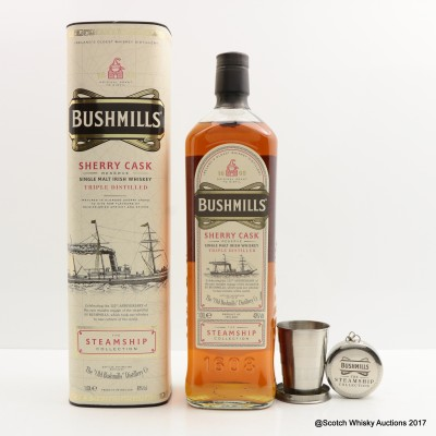 Bushmills Sherry Cask Steamship Collection 1L & Bushmill's Collapsible Cup