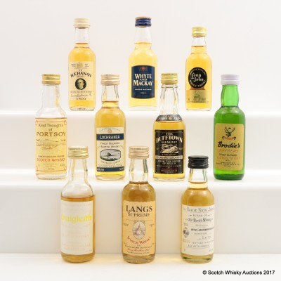 Assorted Minis 9 x 5cl & 1 x 4.7cl  Including Bailie Nicol Jarvie