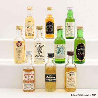 Assorted Minis 9 x 5cl & 1 x 4.7cl Including Findlater's Finest