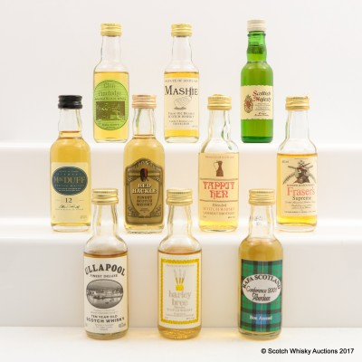 Assorted Minis 9 x 5cl & 1 x 3.7cl  Including Scottish Majesty