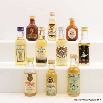 Assorted Minis 8 x 5cl & 2 x 3cl Including House Of Peers
