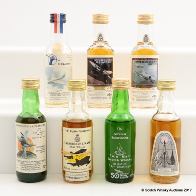 Assorted Minis 7 x 5cl Including Bowmore 10 Year Old For RAF Benevolent Fund