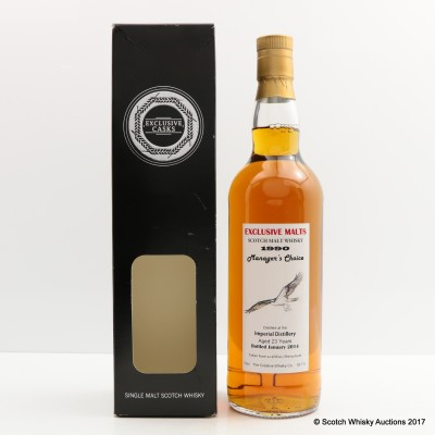 Imperial 1990 23 Year Old Manager's Choice Exclusive Malts