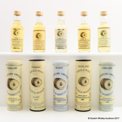 Assorted Signatory Minis Including Clynelish 1990 5 x 5cl