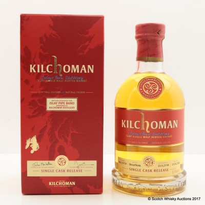 Kilchoman 2008 Single Cask for Islay Pipe Band