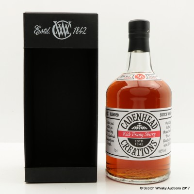 Cadenhead's Creations Rich Fruity Sherry 36 Year Old Batch #2
