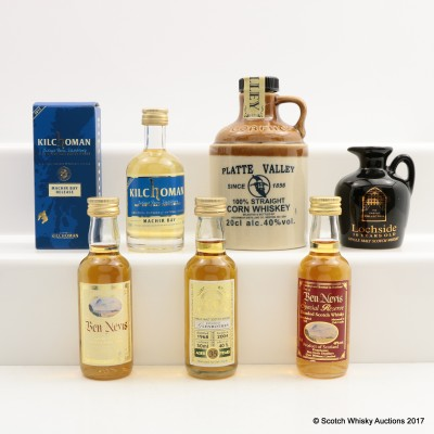 Assorted Minis x 6 including Glenrothes 1968 35 Year Old Duncan Taylor 5cl