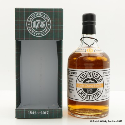 Cadenhead's Creations Light Creamy Vanilla 18 Year Old Batch #3