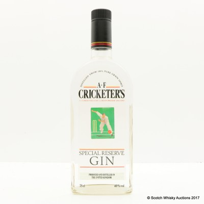 A.F. Cricketer's Special Reserve Gin 75cl