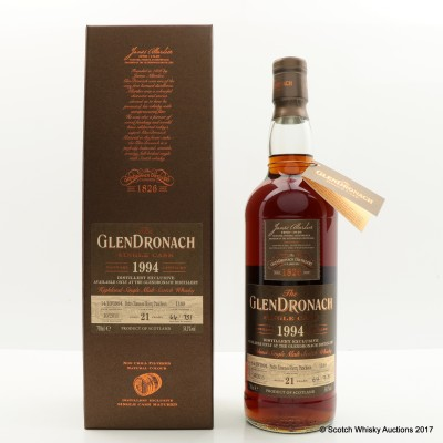 GlenDronach 1994 21 Year Old Single Cask #1189